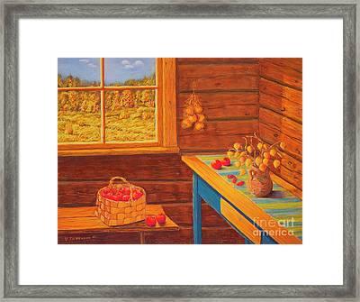 Autumn At The Cottage Framed Print by Veikko Suikkanen