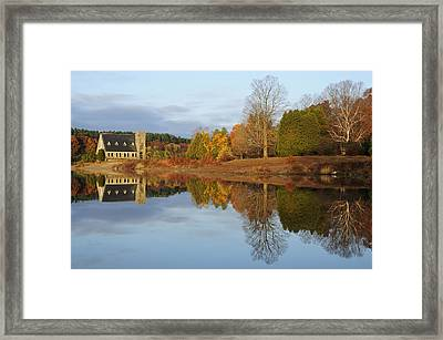 Autumn At The Old Stone Church Framed Print by Luke Moore