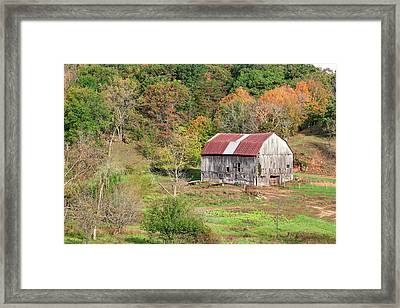 Autumn Barn Framed Print by Todd Klassy