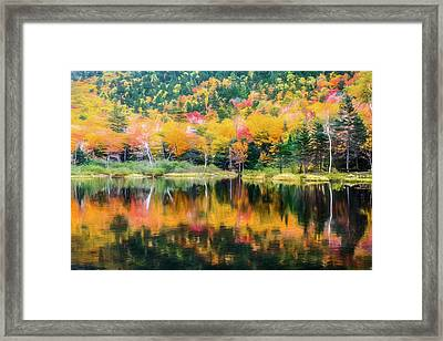 Autumn Beauty Painted Framed Print by Black Brook Photography