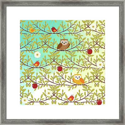 Autumn Birds Framed Print by Gaspar Avila
