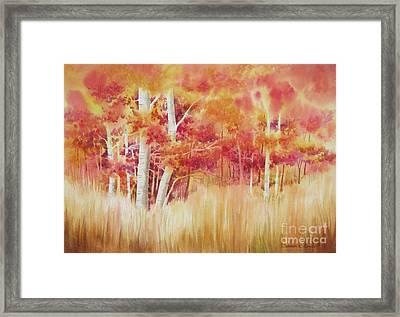 Autumn Blaze Framed Print by Deborah Ronglien