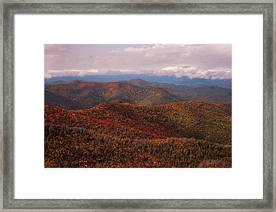 Autumn Blue Ridge Parkway North Carolina   Framed Print by Terry DeLuco