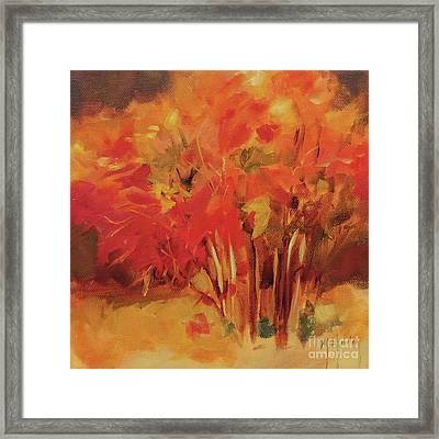 Autumn Blueberry Bush Framed Print by Mary Hubley
