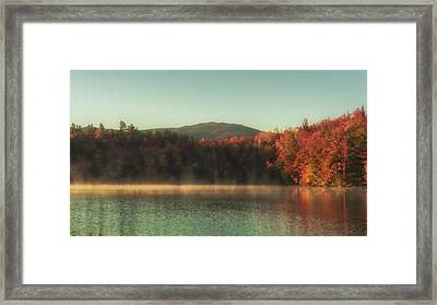 Autumn By The Mountain Lake Framed Print by Chris Fletcher