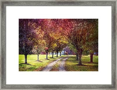 Autumn Charm Framed Print by Debra and Dave Vanderlaan