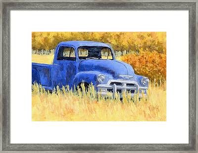 Autumn Chevy Framed Print by David King