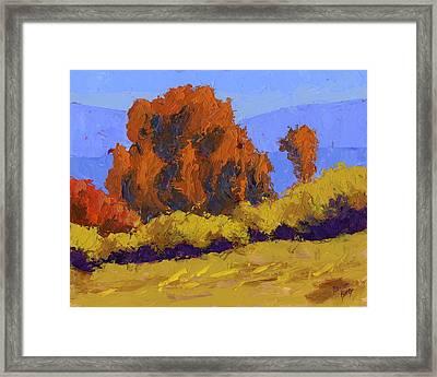 Autumn Dance Framed Print by David King