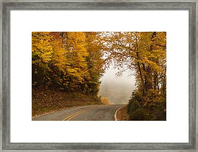Autumn Drive North Carolina Framed Print by Terry DeLuco