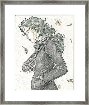 Autumn Dryad Framed Print by Brandy Woods