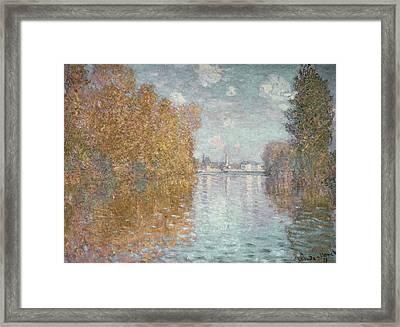 Autumn Effect At Argenteuil Framed Print by Claude Monet