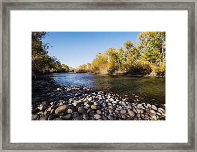Autumn Evening Along Boise River Boise Idaho Framed Print by Vishwanath Bhat