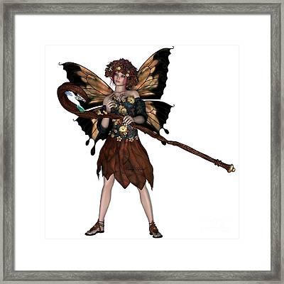 Autumn Fairy Framed Print by Corey Ford