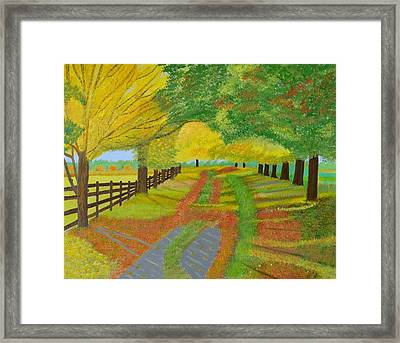 Autumn- Fallen Leaves Framed Print by Magdalena Frohnsdorff