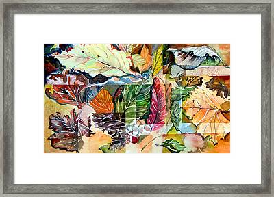Autumn Falls Framed Print by Mindy Newman