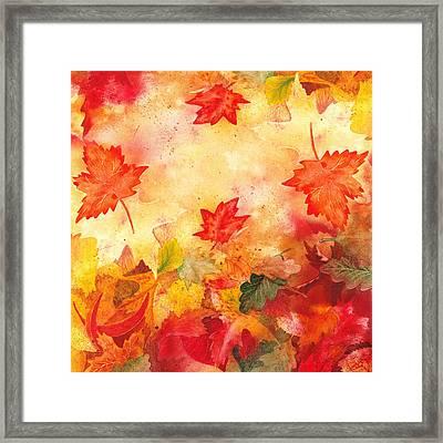 Autumn Flow Framed Print by Irina Sztukowski