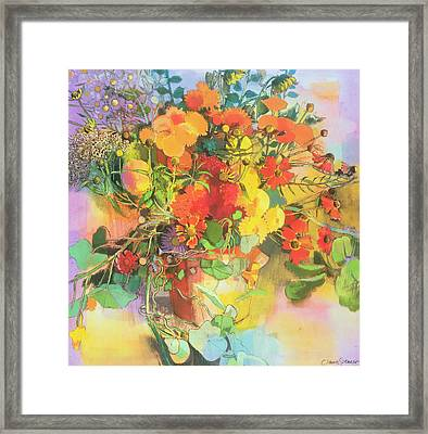 Autumn Flowers  Framed Print by Claire Spencer