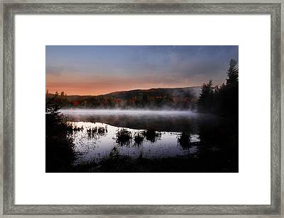 Autumn Fog Framed Print by William Carroll
