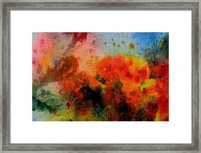Autumn Garden Framed Print by Anne Duke