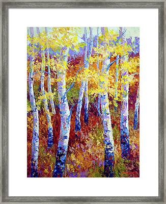 Autumn Gold Framed Print by Marion Rose