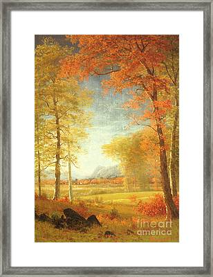 Autumn In America Framed Print by Albert Bierstadt