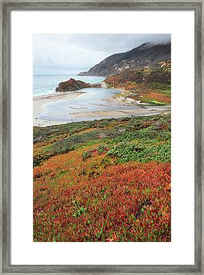 Autumn In Big Sur California Framed Print by Pierre Leclerc Photography