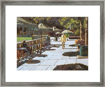 Autumn In Bryant Park Framed Print by Tate Hamilton