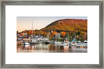 Autumn In Camden Harbor Framed Print by Benjamin Williamson