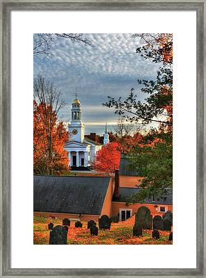Autumn In New England - Concord Ma Framed Print by Joann Vitali