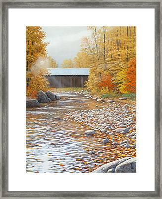 Autumn In New England Framed Print by Jake Vandenbrink