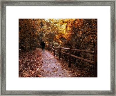 Autumn In Stride Framed Print by Jessica Jenney