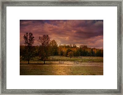 Autumn In The Country Framed Print by Jai Johnson