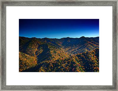 Autumn In The Smokies Framed Print by Rick Berk