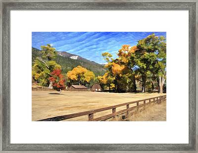 Autumn In Washoe Valley Framed Print by Donna Kennedy