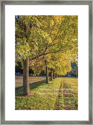 Autumn Is The Second Sprint Framed Print by Edward Fielding