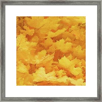 Autumn Leaves 1 - Sand Texture Framed Print by Raymond Vango