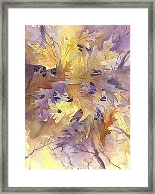 Autumn Leaves Framed Print by Gladys Folkers