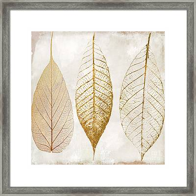 Autumn Leaves IIi Fallen Gold Framed Print by Mindy Sommers