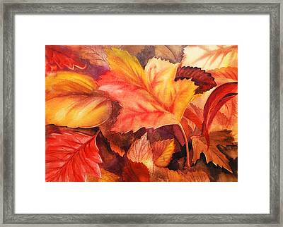 Autumn Leaves Framed Print by Irina Sztukowski