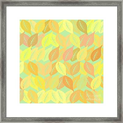 Autumn Leaves Pattern Framed Print by Gaspar Avila
