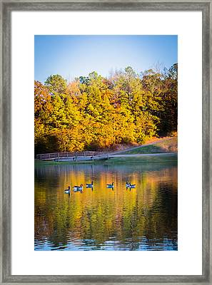 Autumn Memories On The Pond Framed Print by Parker Cunningham