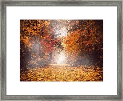 Autumn Mist Framed Print by Georgiana Romanovna
