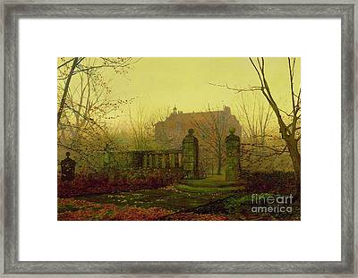 Autumn Morning Framed Print by John Atkinson Grimshaw