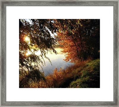 Autumn Morning  Framed Print by Kathy Bassett