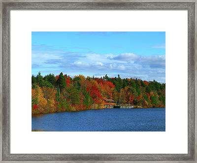 Autumn On Bamber Lake Framed Print by George Martinez