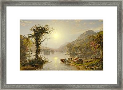 Autumn On Greenwood Lake Framed Print by Jasper Francis Cropsey
