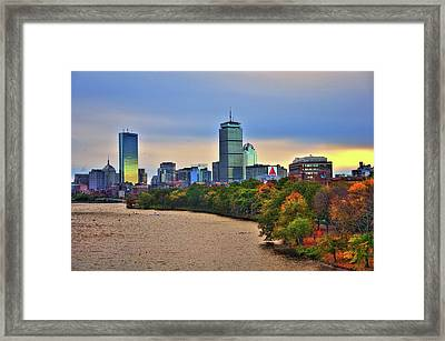 Autumn On The Charles River - Boston Framed Print by Joann Vitali