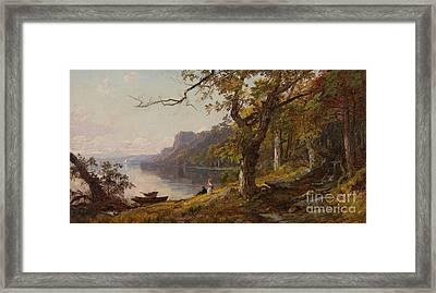 Autumn On The Hudson Framed Print by Celestial Images