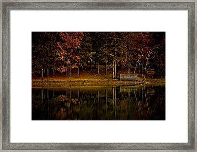 Autumn On The Lake Framed Print by Linda Unger