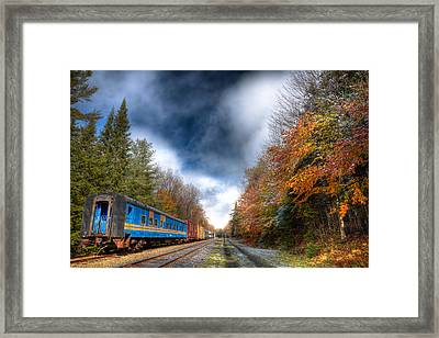 Autumn On The Tracks Framed Print by David Patterson